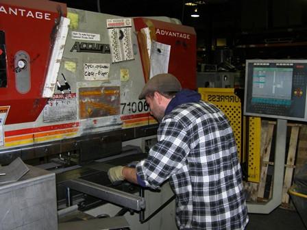 Bending steel on a press!