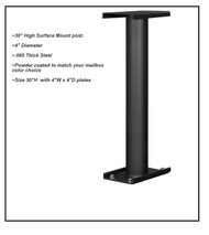 30 inch Surface Mount Post