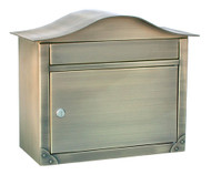 Architectural Mailboxes Peninsula Locking Wall Mailbox, Antique Brass