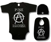 Punk Rock Baby 3 Piece Gift Set: Anarchy Punk Rocker