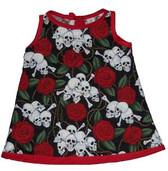 Punk Rock Baby Dress: Skulls N Roses