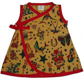 Punk Rockabilly Kimono Baby Dress: Tattoo Tea