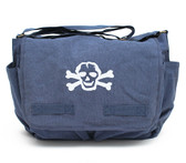 Cool Punk Rock Diaper Bag: Blue with White Skull