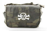 Cool Punk Rock Diaper Bag: Camo with White Skull
