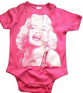 Baby Cool Onesie: Marilyn Monroe Pink