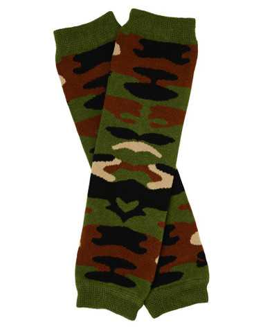 Camo Green Baby & Toddler Leg Warmers.
