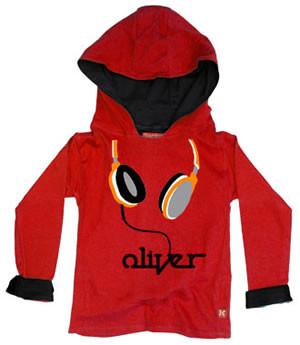 Punk Rock Personalized Headphones Baby Toddler Big Kid Hoodie Pullover Jacket