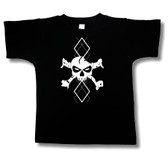 Punk Rock Toddler T-Shirt: Argyle Skull White