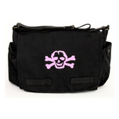 Cool Punk Rock Diaper Bag: Black with Pink Skull