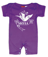 Punk Rock Personalized Short Sleeve Baby Romper: Tattoo