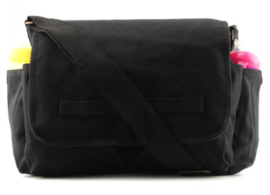 Black Canvas Diaper Bag