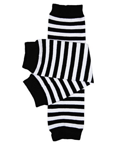 Black & White Stripe  Baby & Toddler Leg Warmers.