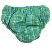 Turquoise Plaid Diaper Cover