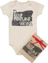 Baby Organic Onesie Gift: Keep Portland Weird