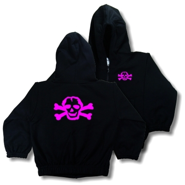 Punk Rock Pink Skull Baby & Toddler Hoodie Jacket