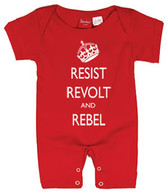 Punk Rock Baby Short Sleeve Romper: Resist