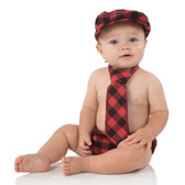 Baby Cabbie Hat Gift Set: Plaid Red