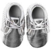 Baby Shoes: Moccasins Silver