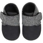 Baby Booties: Gray Tweed