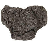 Brown Tweed Diaper Cover