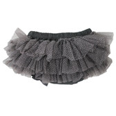Charcoal Gray Tutu Diaper Cover.