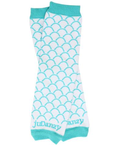 Aqua Scallop Leg Warmers
