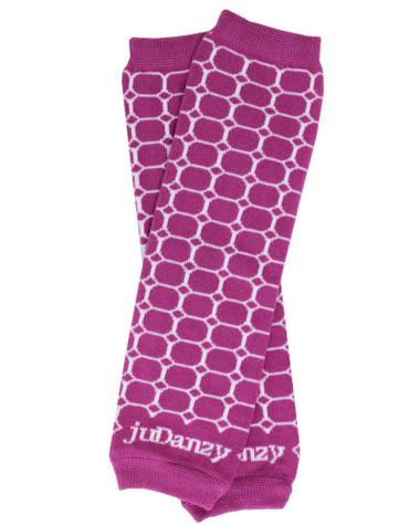 Berry Honeycomb Organic Cotton Baby & Toddler Leg Warmers.