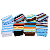 Boys Stripes Baby Leg Warmers Gift Set.