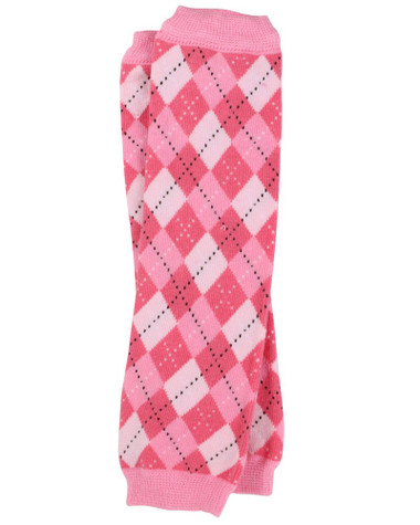 Preppy Pink Argyle Baby & Toddler Leg Warmers.