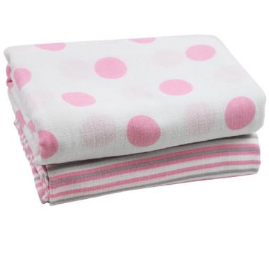 Muslin Blanket: Pink & White
