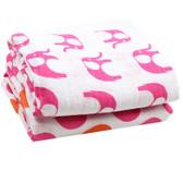Muslin Blanket: Elephant Hot Pink