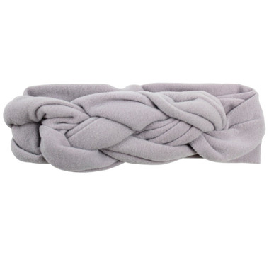 Gray Braided Headband
