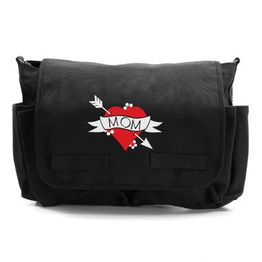 Cool Mom Heart Tattoo Diaper Bag