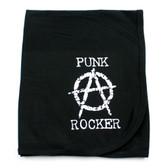 Anarchy Punk Rocker Receiving Swaddling Blanket
