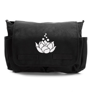 White Lotus Blossom Diaper Bag