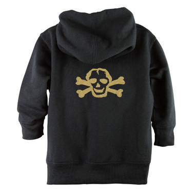 Punk Rock Gold Sparkle Glitter Skull Baby & Toddler Hoodie Jacket - Back