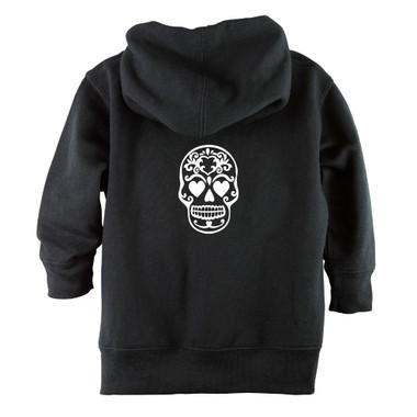 Punk Rock Sugar Skull Baby & Toddler Hoodie Jacket - Back