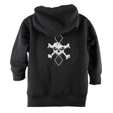 Punk Rock White Argyle Skull Baby & Toddler Hoodie Jacket - Back