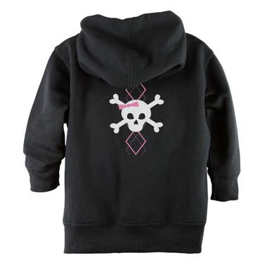 Punk Rock Pink Argyle Skull Baby & Toddler Hoodie Jacket - Back
