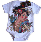 Punk Rock Baby Onesie or Toddler T-Shirt: Asian Geisha