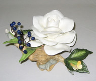 White Rose With Juniper Berries & Butterfly F508