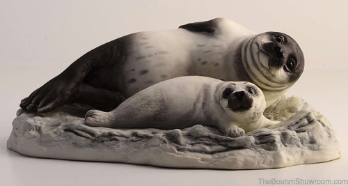 Boehm Seal With Pup Hallmark 20117