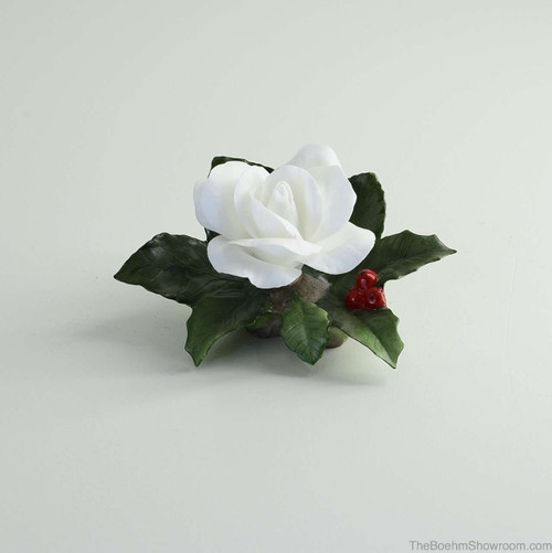 Boehm Christmas Rose W/Holly Hallmark F434