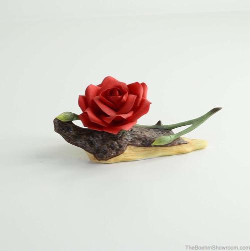 Boehm Red Rainbow Rose Hallmark F485R
