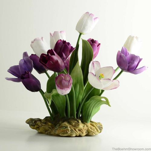 Boehm Purple Passion Tulips Hallmark F524