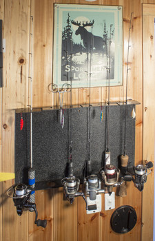 Catch Covers Rod Rack holds up to 6 rods can be mounted on ceiling or walls