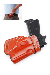 Leather SMALL OF THE BACK (SOB) Holster