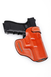 Leather CROSS DRAW Holster - Open Top
