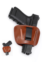 Leather Belt Slide Holster - AMBIDEXTROUS