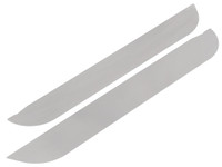 JK Aluminum Door Accent Plates - Front